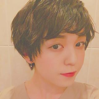 ヘアアレンジ 大人女子 暗髪 ショート ヘアスタイルや髪型の写真・画像