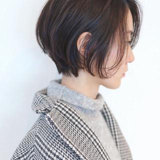 デート 黒髪ショート 黒髪 大人ショート ヘアスタイルや髪型の写真・画像 ヘアスタイルや髪型の写真・画像