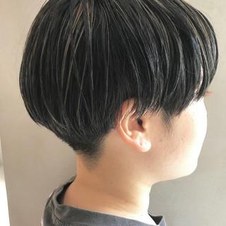 3Dハイライト ショートヘア ハイライト 刈り上げショート ヘアスタイルや髪型の写真・画像