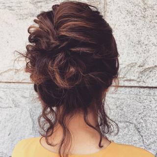 ヘアアレンジ ブライダル 結婚式 ルーズ ヘアスタイルや髪型の写真・画像