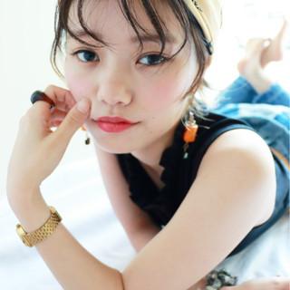 ヘアアレンジ ショート 暗髪 簡単ヘアアレンジ ヘアスタイルや髪型の写真・画像