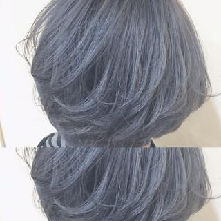 色気 グレージュ ボブ イルミナカラー ヘアスタイルや髪型の写真・画像