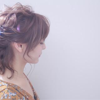 結婚式 デート ミディアム 外国人風カラー ヘアスタイルや髪型の写真・画像