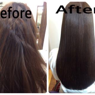 黒髪 グラデーションカラー コンサバ ロング ヘアスタイルや髪型の写真・画像