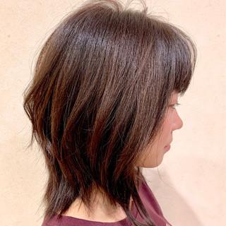 ミディアム 伸ばしかけ 外はね ゆるふわ ヘアスタイルや髪型の写真・画像