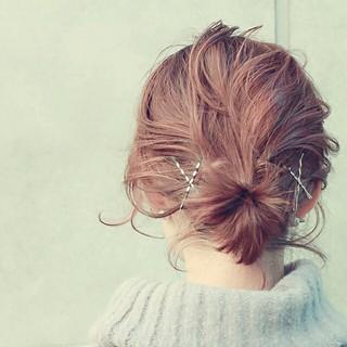 かわいい ショート ヘアアレンジ 大人かわいい ヘアスタイルや髪型の写真・画像