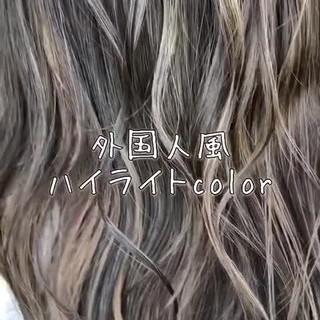 外国人 外国人風 外国人風カラー エレガント ヘアスタイルや髪型の写真・画像