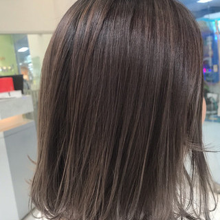 外ハネボブ グラデーションボブ ナチュラル グラデーションカラー ヘアスタイルや髪型の写真・画像
