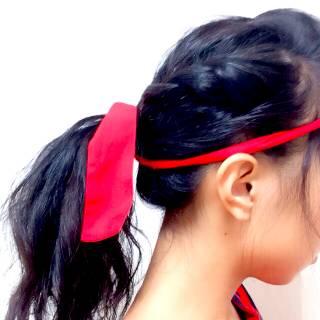 学校 黒髪 ポンパドール ヘアアレンジ ヘアスタイルや髪型の写真・画像