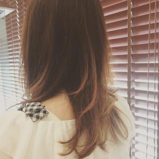 アッシュ ナチュラル ゆるふわ セミロング ヘアスタイルや髪型の写真・画像