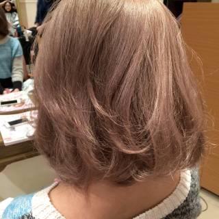ナチュラル ピンク モード ゆるふわ ヘアスタイルや髪型の写真・画像