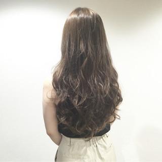 渋谷系 ハイライト ナチュラル グレージュ ヘアスタイルや髪型の写真・画像
