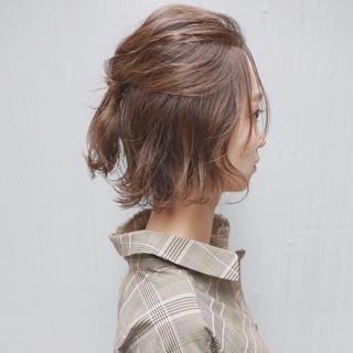 透明感 ウェーブ ボブ フェミニン ヘアスタイルや髪型の写真・画像