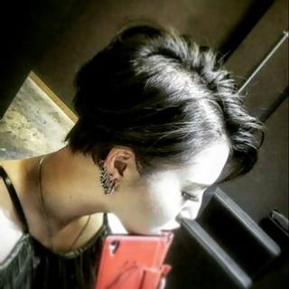 ツーブロック 外国人風 ブリーチ 大人かわいい ヘアスタイルや髪型の写真・画像