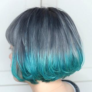 ハイトーンカラー モード ボブ ハイトーン ヘアスタイルや髪型の写真・画像