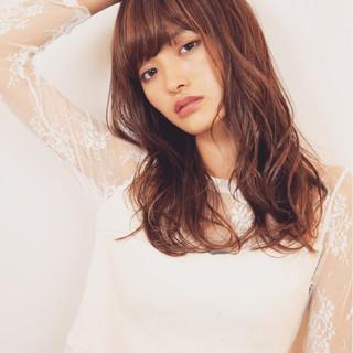 フェミニン ロング かわいい ゆるふわ ヘアスタイルや髪型の写真・画像