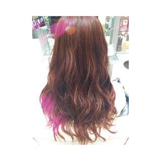 ガーリー ゆるふわ ピンク ベージュ ヘアスタイルや髪型の写真・画像