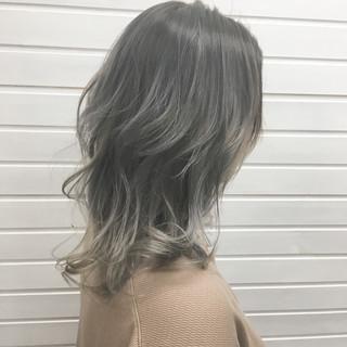 ハイライト コントラストハイライト グラデーションカラー エレガント ヘアスタイルや髪型の写真・画像