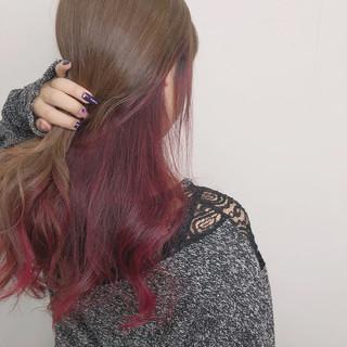 ロング インナーカラー 外国人風カラー ダブルカラー ヘアスタイルや髪型の写真・画像