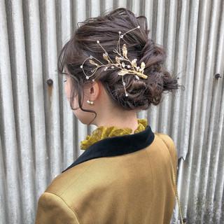 ヘアアレンジ 簡単ヘアアレンジ ヘアセット ナチュラル ヘアスタイルや髪型の写真・画像 ヘアスタイルや髪型の写真・画像