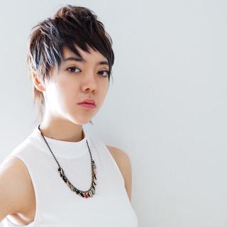 ハイライト ベリーショート モード 外国人風 ヘアスタイルや髪型の写真・画像