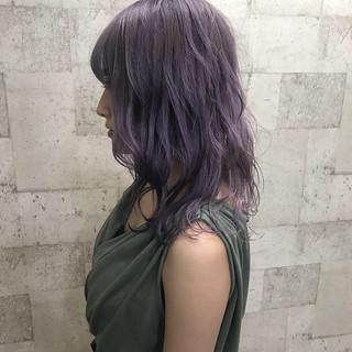 上品 エレガント ミディアム ダブルカラー ヘアスタイルや髪型の写真・画像 ヘアスタイルや髪型の写真・画像