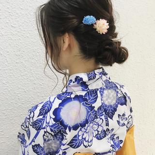 ヘアアレンジ ウェーブ ナチュラル アンニュイ ヘアスタイルや髪型の写真・画像