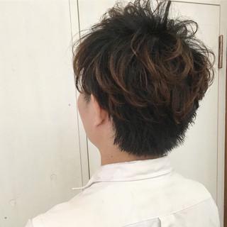 ナチュラル モテ髪 刈り上げ パーマ ヘアスタイルや髪型の写真・画像