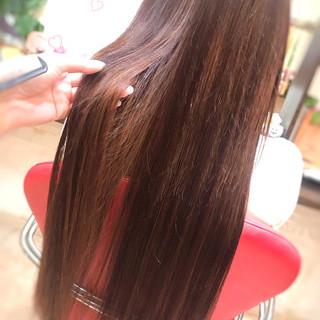 エクステ 大人可愛い バレイヤージュ ロング ヘアスタイルや髪型の写真・画像