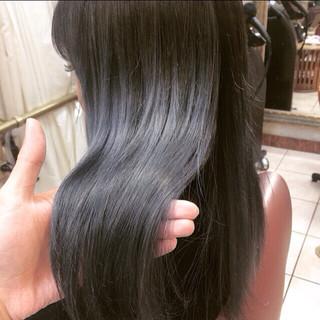 グラデーションカラー ストリート アッシュ 外国人風 ヘアスタイルや髪型の写真・画像