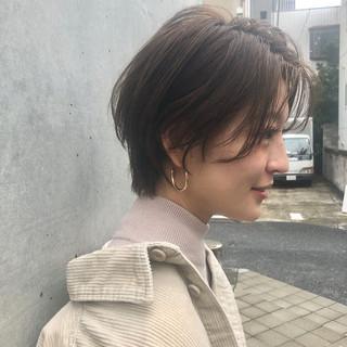 ナチュラル 前髪パーマ ベリーショート ショートヘア ヘアスタイルや髪型の写真・画像