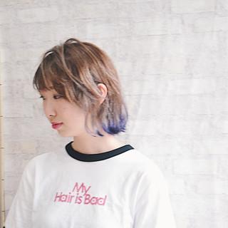 ミルクティー ワンカールスタイリング ミルクティーベージュ フェミニン ヘアスタイルや髪型の写真・画像