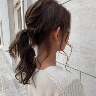 デート ナチュラル 外国人風カラー ロング ヘアスタイルや髪型の写真・画像