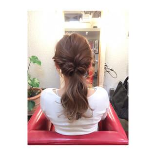 大人女子 ハーフアップ グラデーションカラー ヘアアレンジ ヘアスタイルや髪型の写真・画像