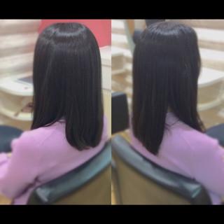 ナチュラル 髪質改善 セミロング 髪質改善カラー ヘアスタイルや髪型の写真・画像