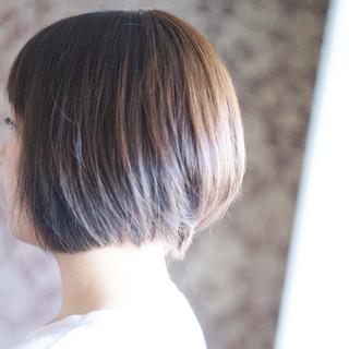 ナチュラル ボブ ヘアスタイルや髪型の写真・画像