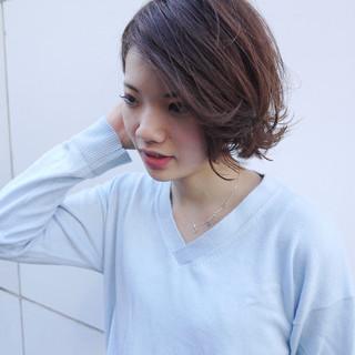 デート 大人女子 ショート ストリート ヘアスタイルや髪型の写真・画像