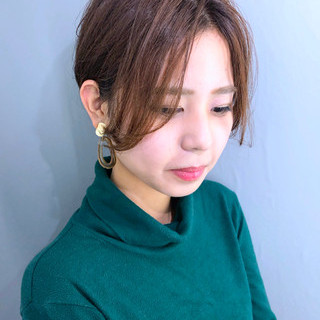 黒髪 ナチュラル ショート 簡単スタイリング ヘアスタイルや髪型の写真・画像