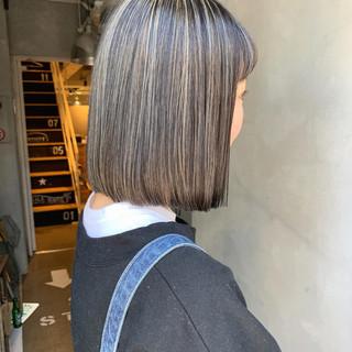 ハイライト ブルージュ グレージュ ストリート ヘアスタイルや髪型の写真・画像