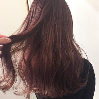 外国人風カラー ピンク ベージュ ラベンダー ヘアスタイルや髪型の写真・画像
