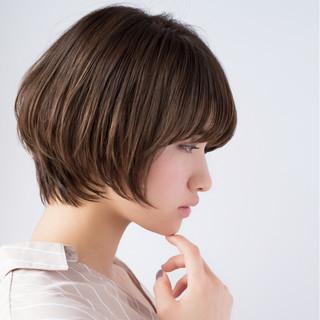 デジタルパーマ ボブ デート ナチュラル ヘアスタイルや髪型の写真・画像