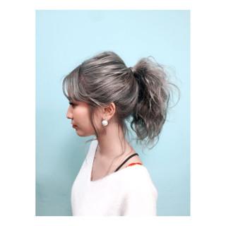 外国人風 夏 アッシュ ヘアアレンジ ヘアスタイルや髪型の写真・画像 ヘアスタイルや髪型の写真・画像