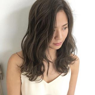 春 モテ髪 セミロング 夏 ヘアスタイルや髪型の写真・画像