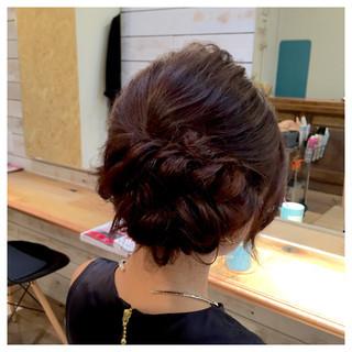 抜け感 編み込み 結婚式 アップスタイル ヘアスタイルや髪型の写真・画像