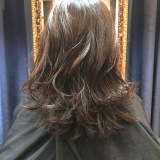 透明感 秋 かわいい セミロング ヘアスタイルや髪型の写真・画像