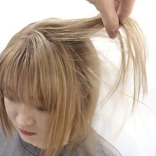ブロンドカラー ブロンド ハイトーンカラー ホワイトベージュ ヘアスタイルや髪型の写真・画像