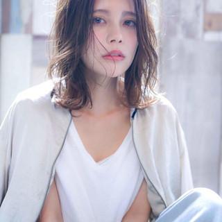 アディクシーカラー 透明感カラー 外国人風カラー セミロング ヘアスタイルや髪型の写真・画像 | 可愛いにはコツがある!ナチュラルizumi / Siena