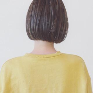 ワンレングス 前下がり ショート 大人女子 ヘアスタイルや髪型の写真・画像