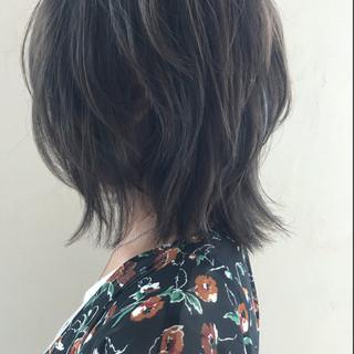 外ハネ 外国人風カラー ボブ ストリート ヘアスタイルや髪型の写真・画像