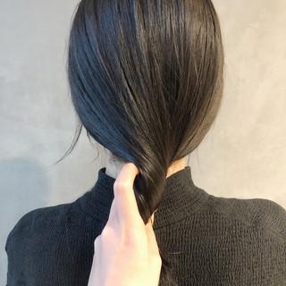 ボブ デート アンニュイほつれヘア 透明感カラー ヘアスタイルや髪型の写真・画像